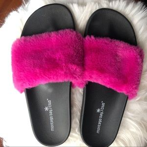 Montego Bay Club Hot pink fluffy slippers